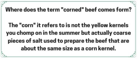 Boiled Dinner fact