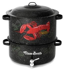 clam boil pot