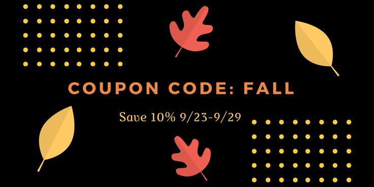 Coupon code- fall